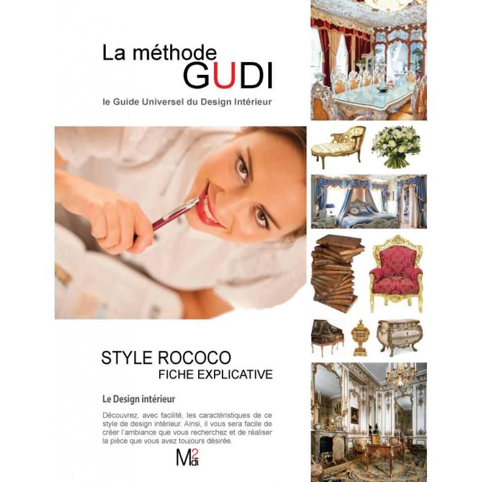 fiche explicative des caractéristiques du style de design rococo / m2di