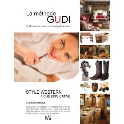 Fiche explicative du style de design Western