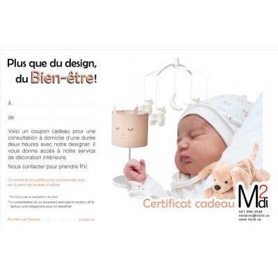 Certificat cadeau pour ton bébé