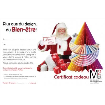 Certificat cadeau pour Noël